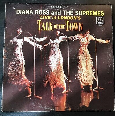 Diana Ross Supremes Live at London's Talk of the Town LP Motown MS 676 Stereo
