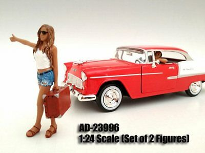 Hitchhiker Set, 2 Figures - American Diorama 23996 1/24 Diecast Hobby Accessory