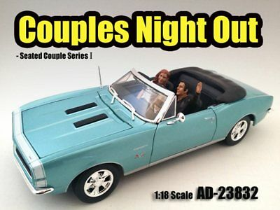 """Seated Couple I """"Couples Night Out"""" - 1/18 Scale Diecast Hobby Accessory"""