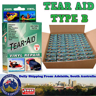 Tear Aid Type B Repair Kit - Vinyl PVC Pool Liner Inflatable Orb Castle Seat