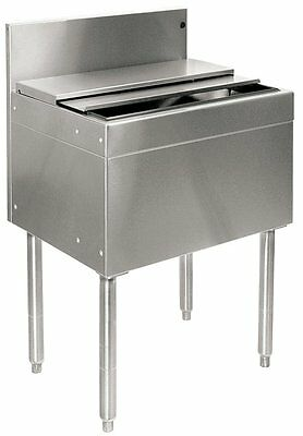 """Glastender Stainless Steel Commercial Back Bar Ice Bin 24"""" with Lid"""