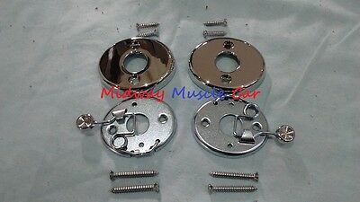 69 bucket seat chrome headrest escutcheon Chevy Pontiac Olds Chevelle GTO 442