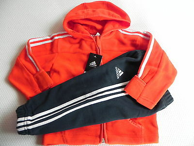 Adidas Tracksuit IJ Polar Jogger for babies in red/Dark grey Size 74 new