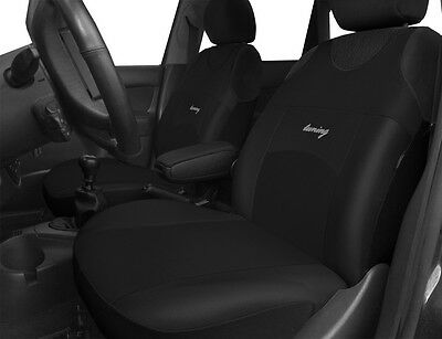 2 Black Front High Quality Car Seat Covers For Mitsubishi L200