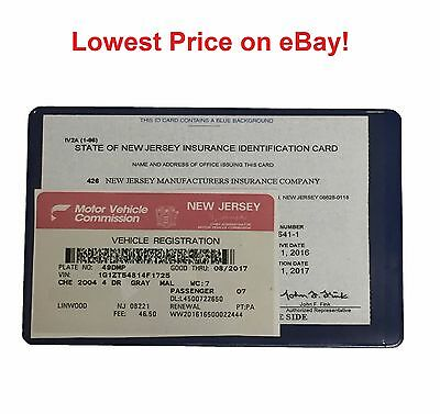 1 (one) AUTO CAR TRUCK INSURANCE REGISTRATION ID CARD CASE WALLET HOLDER