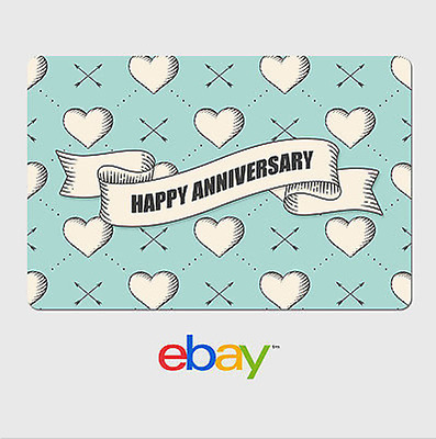 eBay Digital Gift Card - Anniversary Hearts  Email delivery