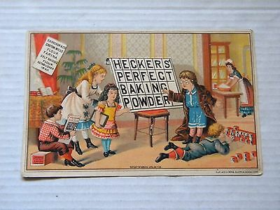 Heckler's Perfect Baking Powder Trade Card: Chicago Illinois