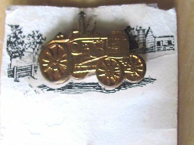 Ant Rumely Oil Pull Tractor Advertising Stickpin With Card La Porte Ind