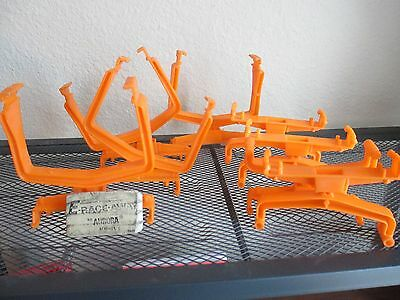 Big Lot Vintage AURORA AFX Slot Car Track Support Tilt Risers Trestles Orange