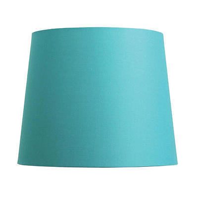 "Cotton Accessories Table Lamp Shade E27 Teal Blue 9-11-9"" Oriel Lighting OL91855"