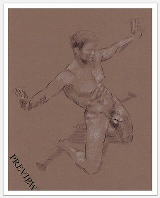 Nude Male Figure Limited Edition Giclee On Glossy Paper 8X10 Print