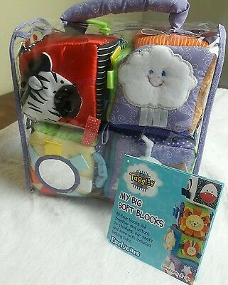 Taggies Big Soft Blocks Discontinued by Manufacturer Baby Toy set NEW