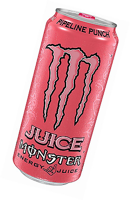 Juice Monster Energy, Pipeline Punch, 16 Ounce (Pack of 24)