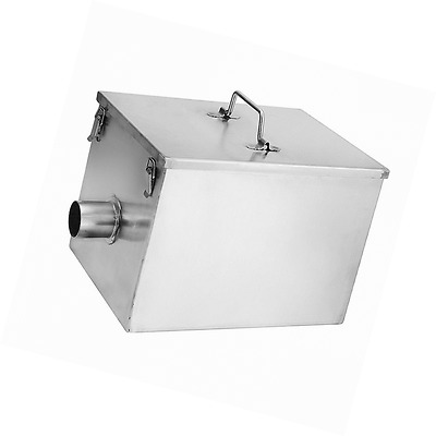 BEAMNOVA Commercial 8LB 5GPM Gallons Per Minute Grease Trap Stainless Steel Inte