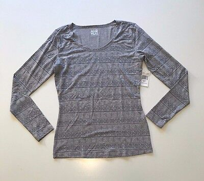 NWT Women's 32 Degrees Heat Medium Weight Long Sleeve Scoop Neck Base Layer Sz S