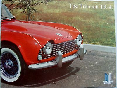 1962 Triumph TR-4 Original Color Catalog