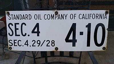 Nice 1950s Standard Oil Porcelain Oil Well Lease Gas Sign