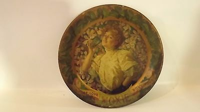 "Moxie Soda Advertising Saloon Tip Tray 6""   RARE Antique Victorian Plate 1890's"
