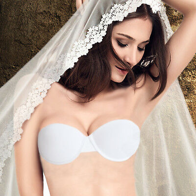 Women Push up Thick Bra Padded Underwire Strapless Invisible Multiway Wedding