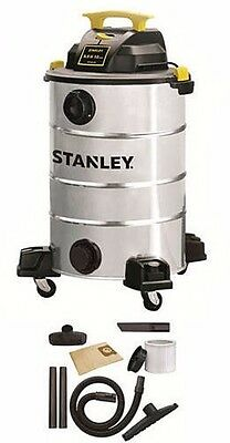 Wet/Dry Vacuum Cleaner Portable Shop Vac 12 Gallon 5.5 Horse Stainless Steel