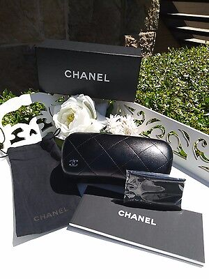 CHANEL Sunglass Case NEW - COMPLETE SET - Case, Pouch, Cleaning Cloth, Booklet