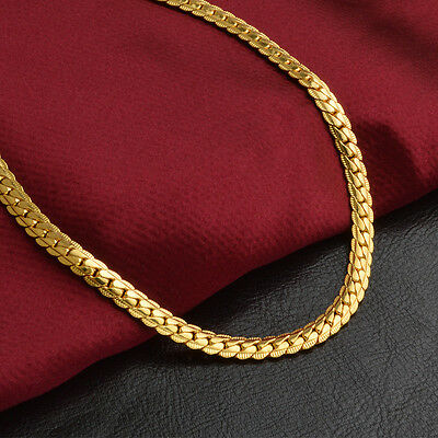 "14k Yellow Solid Gold Filled Chain Necklace 20"" 5mm Thick Men's Women's"