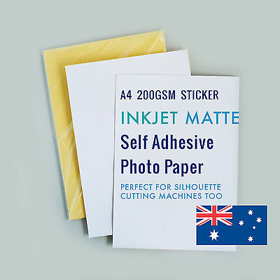 20 sheets A4 200GSM Inkjet Matte sticker adhesive paper Silhouette machine paper