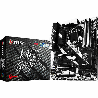 MSI Z270 Krait Gaming Intel LGA 1151 ATX Motherboard DDR4 M.2 USB-C DVI HDMI