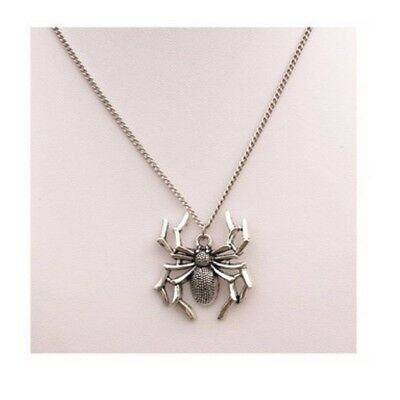 NEW Spider Pendant Charm Silver Necklace Chain Women Jewelry Punk Gothic Gift
