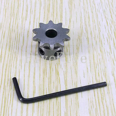 6/7/8mm Bore 10 Teeth 10T Metal Pilot Motor Gear Roller Chain Drive Sprocket