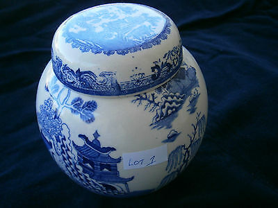 Mason's Ironstone Lidded Ginger Jar in Blue & White