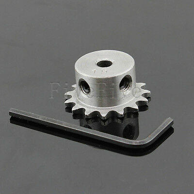 6/8/10/12mm Bore 15 Teeth 15T Metal Pilot Motor Gear Roller Chain Drive Sprocket