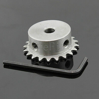 6/8/10/12mm Bore 20 Teeth 20T Metal Pilot Motor Gear Roller Chain Drive Sprocket