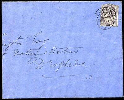 IRISH: *CORK HOODED CIRCLE* 1885 SG172 1d Lilac to Drogheda