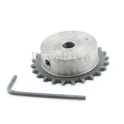8/10/12mm Bore 24 Teeth 24T Metal Pilot Motor Gear Roller Chain Drive Sprocket