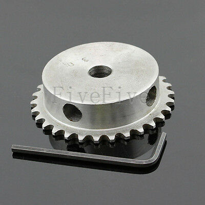 8/10/12/15mm Bore 30 Teeth 30T Metal Pilot Motor Gear Roller Chain Drive Sprocke