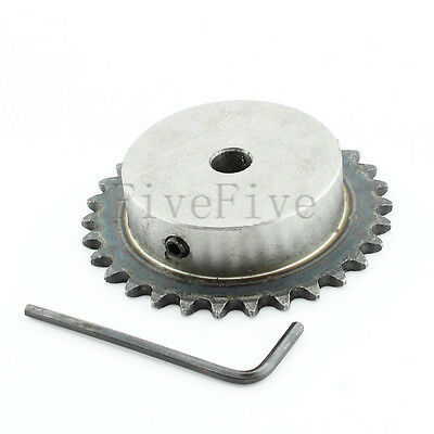 10/12mm Bore 32 Teeth 32T Metal Pilot Motor Gear Roller Chain Drive Sprocket