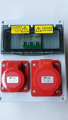4 Pin Industrial Red CEE Socket.3 Phase wall mounted distribution box. 16A,32A