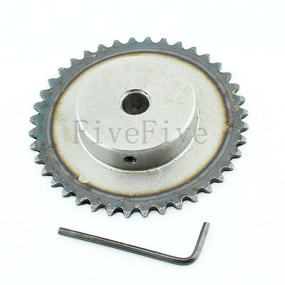 10/12/15mm Bore 40 Teeth 40T Metal Pilot Motor Gear Roller Chain Drive Sprocket
