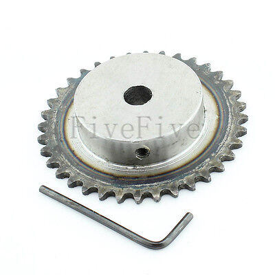 10mm Bore 36 Teeth 36T Metal Pilot Motor Gear Roller Chain Drive Sprocket
