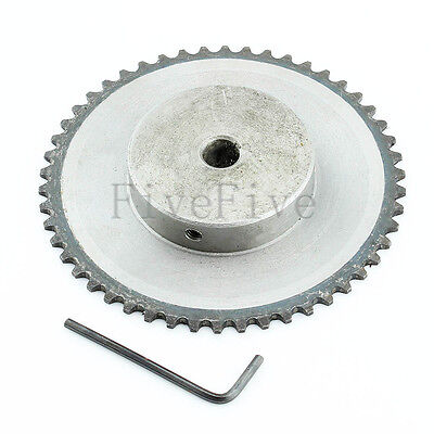 10mm Bore 50 Teeth 50T Metal Pilot Motor Gear Roller Chain Drive Sprocket