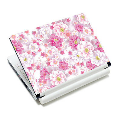 "Pink Flower Universal Laptop Sticker Decal Skin Cover For 14"" 15"" 15.6"" Notebook"