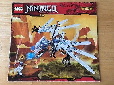 LEGO INSTRUCTIONS ONLY - Ninjago - 2260 - Ice Dragon Attack Free P&P
