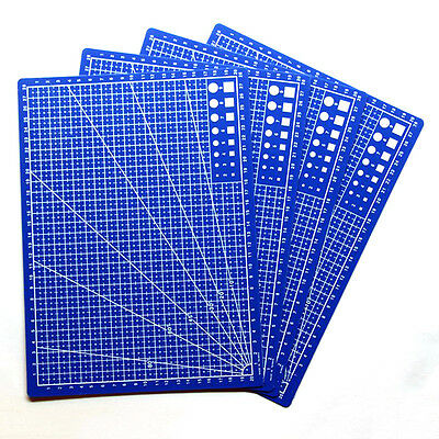 A4 Cutting Mat Printed Grid Lines Scale Plate Leather Paper Board Stationery Set