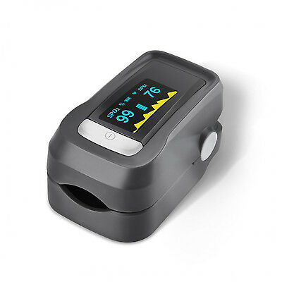 Fingertip Pulse Oximeter Blood Oxyden Meter Saturation Monitor SpO2 Easy to Use
