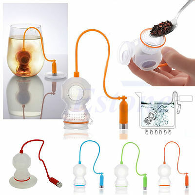 Tea Infuser Loose Leaf Strainer Deep Diver Silicone Diffuser Herbal Spice Filter