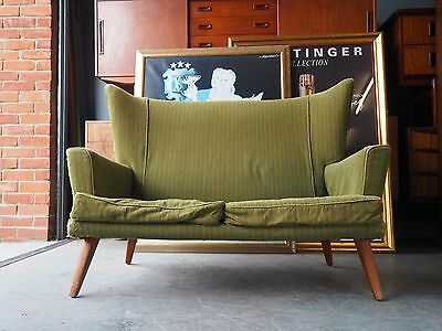Vintage Retro E-Gomme for G-Plan Green 2 Seater Sofa UK DELIVERY AVAILABLE