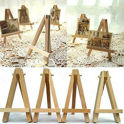 10 x Mini Wooden Easel For Table Settings Display Art Craft Artwork 16 x 9cm LH