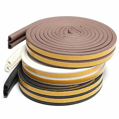 5m Tape Weather Excluder Self Adhesive Foam Sponge Window Seal Strip D Type