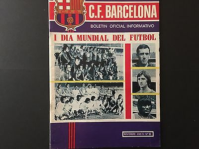 1973 1st World Soccer Day.Europe - America. official programme FC Barcelona